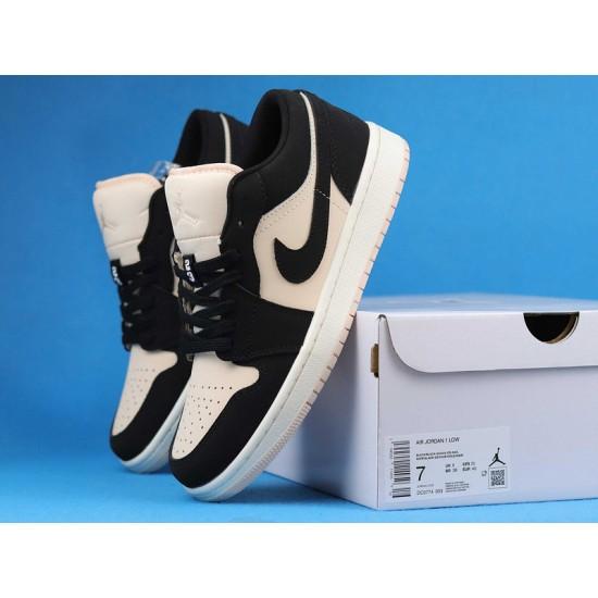 """Sale Air Jordan 1 Low """"Black Guava Ice"""" Black White DC0774-003 36-47 Shoes"""