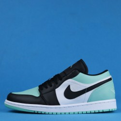 "Air Jordan 1 Low ""Emerald"" Blue Black White 553558-117 36-46"