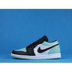 "Air Jordan 1 Low ""Emerald"" Blue Black White 553558-117 36-46"