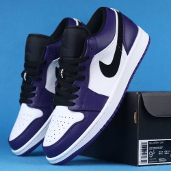 "Air Jordan 1 Low ""Court Purple"" Purple White Black 553558-500 36-46"