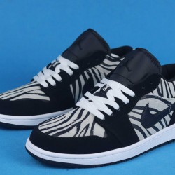 "Air Jordan 1 Low GS ""Zebra"" Black White 553560-057 36-46"