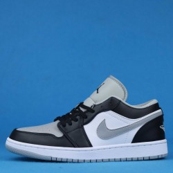 "Air Jordan 1 Low Light ""Smoke Grey"" Black Gray 553558-039 GS 553560-039 36-46"