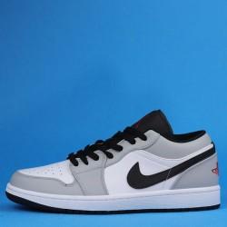 "Air Jordan 1 Low ""Light Smoke Grey"" Grey Black 553558-030 553560-030 35"