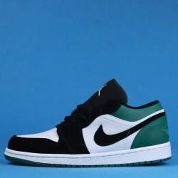 """Air Jordan 1 Low """"Mystic Green"""" Black Green White 553558-113 36-46"""