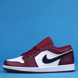 "Air Jordan 1 Low ""Noble Red"" White Red Black 553558-604 36-46"