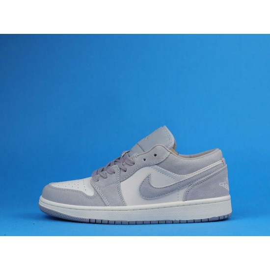 "Sale Air Jordan 1 Low ""Pale Ivory"" Pink White AH7389-102 36-47 Shoes"