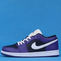 "Air Jordan 1 Low ""Court Purple"" Purple Black White 553558-501 36-46"