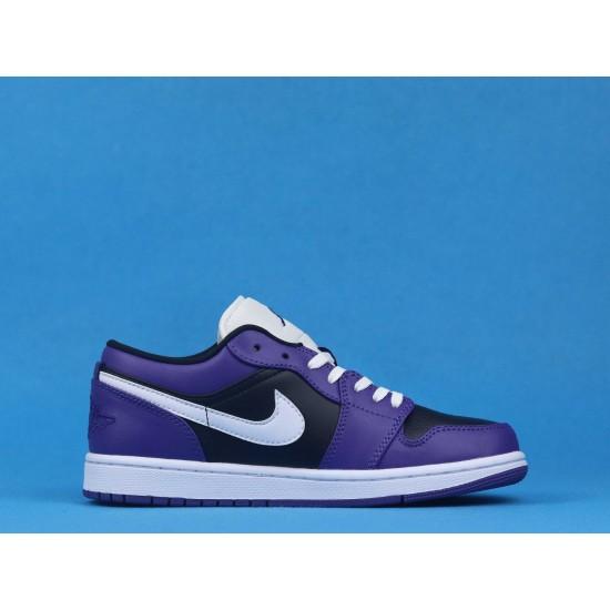"""Sale Air Jordan 1 Low """"Court Purple"""" Purple Black White 553558-501 36-46 Shoes"""