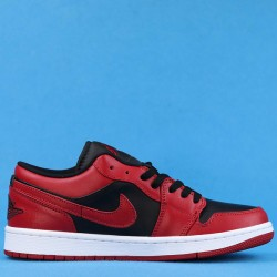 """Air Jordan 1 Low """"Reverse Bred"""" Red Black 553558-606 36-47"""