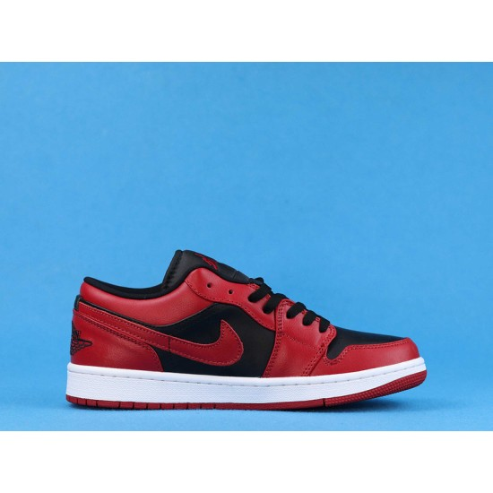"Sale Air Jordan 1 Low ""Reverse Bred"" Red Black 553558-606 36-47 Shoes"