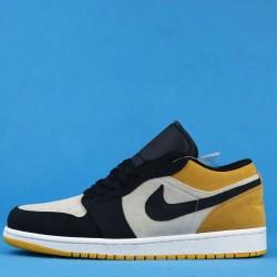 "Air Jordan 1 Low ""University Gold"" Black Yellow White 553558-127 36-46"