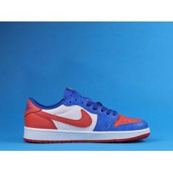 "Air Jordan 1 Low ""West Coast"" White Blue Orange CW0858-200 36-46"
