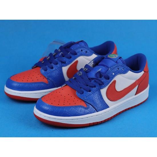 """Sale Air Jordan 1 Low """"West Coast"""" White Blue Orange CW0858-200 36-46 Shoes"""