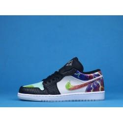 """Air Jordan 1 Low """"Galaxy"""" White Black Purple CW7309-090 36-46"""