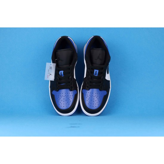 "Sale Air Jordan 1 Low ""Black University Gold"" White Blue Black 553558-071 36-46 Shoes"