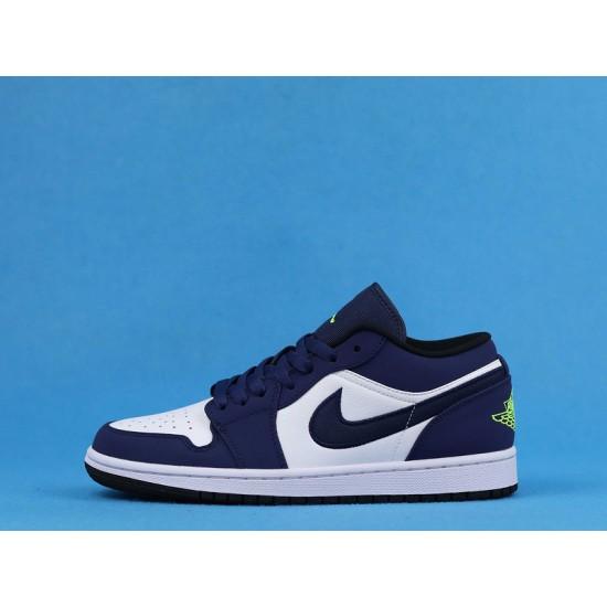 "Sale Air Jordan 1 Low ""Insignia Blue"" White Blue Green 553558-405 36-47 Shoes"