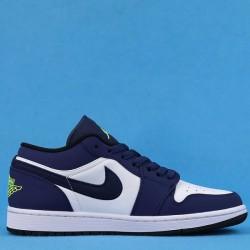"""Air Jordan 1 Low """"Insignia Blue"""" White Blue Green 553558-405 36-47"""