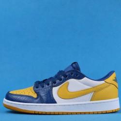 "Air Jordan 1 Low ""Michigan PE"" Yellow Blue CZ6909-200 36-47"