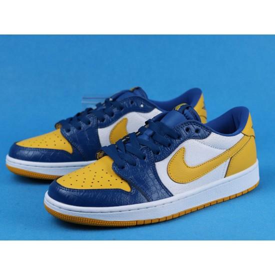 "Sale Air Jordan 1 Low ""Michigan PE"" Yellow Blue CZ6909-200 36-47 Shoes"