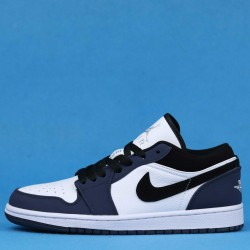"Air Jordan 1 Retro Low ""Navy"" Purple Black White 309192-101 36-46"