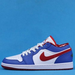 "Air Jordan 1 Retro Low ""East Side"" White Blue Red 309192-161 36-47"