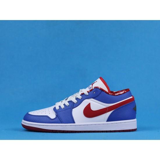 "Sale Air Jordan 1 Retro Low ""East Side"" White Blue Red 309192-161 36-47 Shoes"