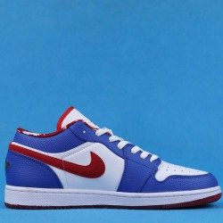 "Air Jordan 1 Retro Low ""East Side"" White Blue Red 309192-161 36-47"