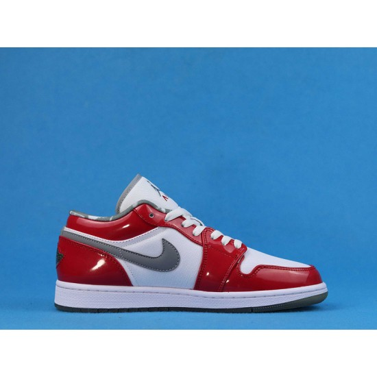 """Sale Air Jordan 1 Retro Low """"South Side"""" White Red 309192-171 36-47 Shoes"""
