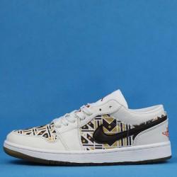 "Air Jordan 1 low ""Quai 54"" White Khaki Brown CZ4155-100 36-46"
