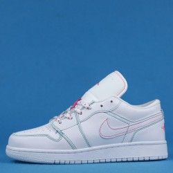 "Air Jordan 1 Low GS ""Aurora Green"" White Pink 554723-101 36-40"