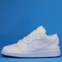 "Air Jordan 1 Low ""Fuchsia"" White Purple 555112-100 36-40"