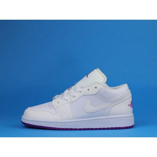 "Sale Air Jordan 1 Low ""Fuchsia"" White Purple 555112-100 36-40 Shoes"