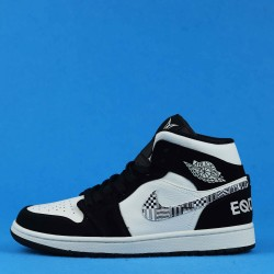"Air Jordan 1 Mid ""Equality BHM"" Black White 8852542-010 36-46"