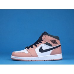 "Air Jordan 1 Mid ""Pink Quartz"" White Black Pink 555112-603 36-46"