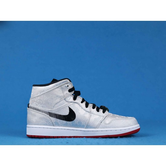 Edison Chen x Air Jordan 1 Mid Fearless White Black CU2804-100 36-46