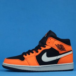 "Air Jordan 1 Mid ""Black Cone"" Orange Black 554724-062 40-46"