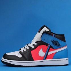 "Air Jordan 1 Mid ""Game Time"" Black Blue Pink CV4891-001 36-47"