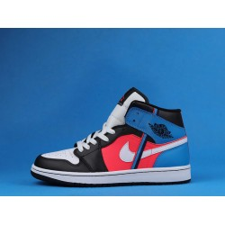 "Air Jordan 1 Mid ""Game Time"" Black Blue Pink CV4891-001 36-47"