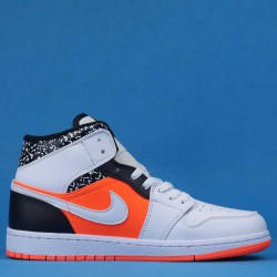"Air Jordan 1 Mid GS ""Notebook"" Yellow Orange White 554725-870 36-46"
