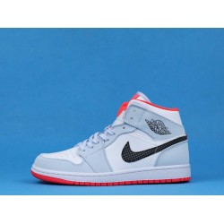 "Air Jordan 1 Mid ""Half Blue"" Polka Blue Orange 555112-400 36-46"