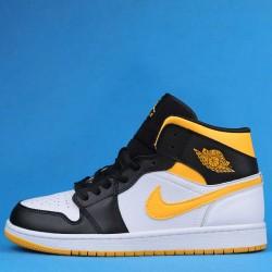 "Air Jordan 1 Mid ""Laser Orange"" Black Yellow CV5276-107 36-47"