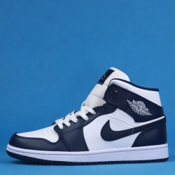 "Air Jordan 1 Mid SE ""Obsidian"" Johnny Kilroy Black White 554724-174 36-46"