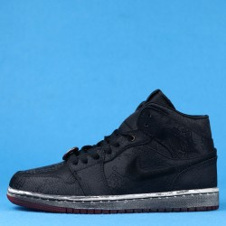 "Clot x Air Jordan 1 Mid ""Fearless"" Black Silver CU2804-002 36-46"