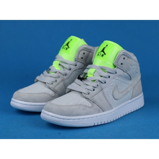 "Sale Melody Ehsani x Air Jordan 1 Mid WMNS ""Ghost Green"" Fearless White Green CV3018-001 36-46 Shoes"