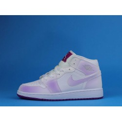 "Air Jordan 1 Mid ""Fuchsia"" White Purple 555112-100 36-40"