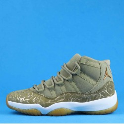 "Air Jordan 11 ""Olive Lux"" Brown Gold AR0715-200 36-46"