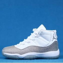 """Air Jordan 11 WMNS """"Metallic Silver"""" White Silver AR0715-100 36-46"""