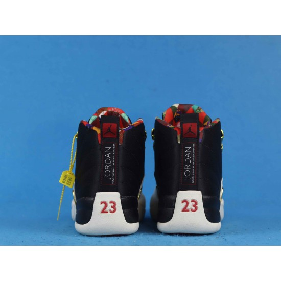 Air Jordan 12 Retro Chinese New Year Black White CI2977-006 40-46
