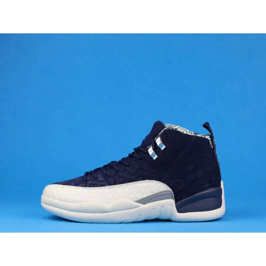 Air Jordan 12 Retro PRM International Flight Black White BV8016-445 40-46