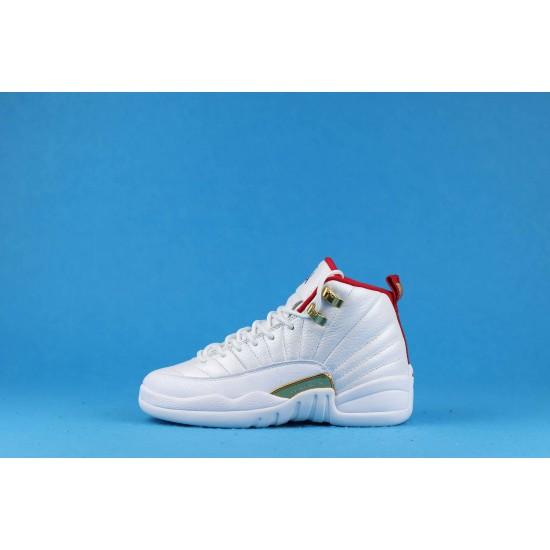 Air Jordan 12 FIBA White Red Gold 153265-107 36-40